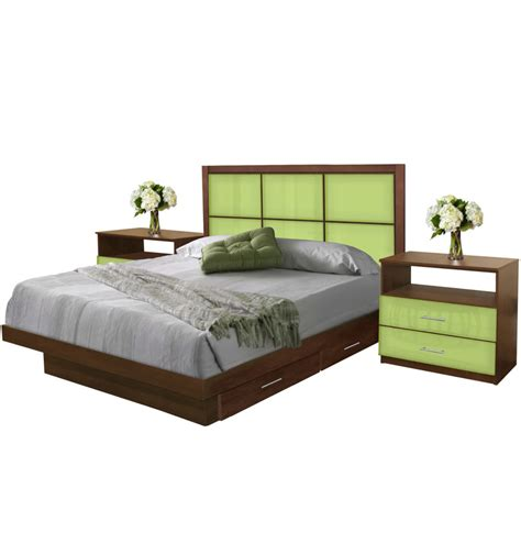 rico king size bedroom set  storage platform contempo space