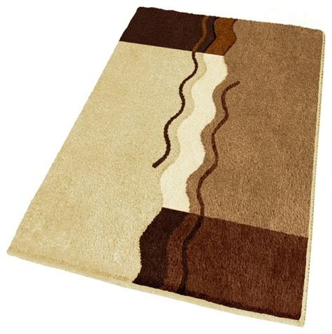 Bathroom Rugs Large Large Contemporary Brown Bath Rug 23 6 Quot X 39 3 Quot Contemporary Bath Mats Other Metro By