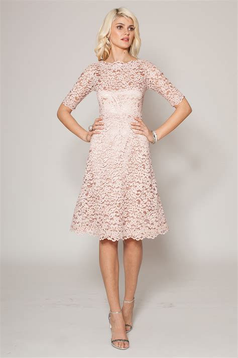 Galerry sheath dress lace sleeves