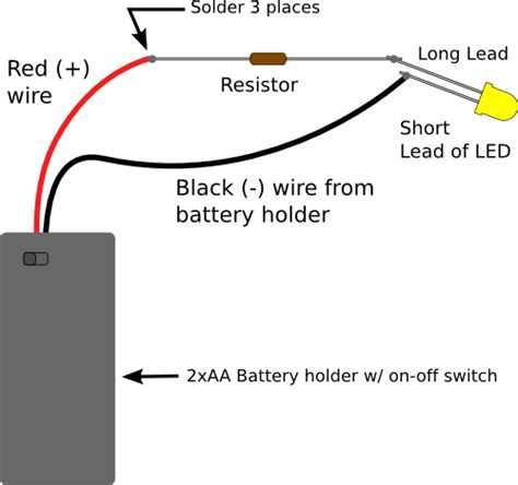 simple led circuit without resistor emergency power transfer switch wiring diagram emergency get free image about wiring diagram
