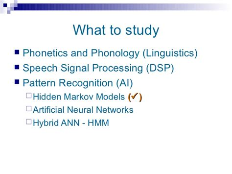 pattern recognition in speech and language processing pdf speech technology overview