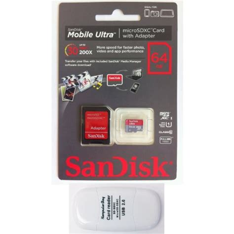 Memori Sandisk 64 Gb Class 10 Adaptor Packing sandisk 64gb mobile ultra microsdxc class 10 uhs 1 30mb s