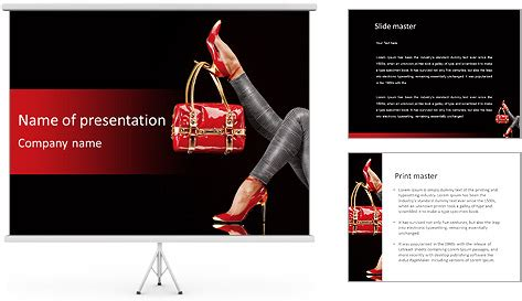 trendy templates trendy shoes and bag powerpoint template backgrounds id
