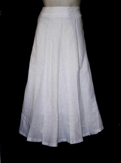 grace elements s skirt simply white linen a line