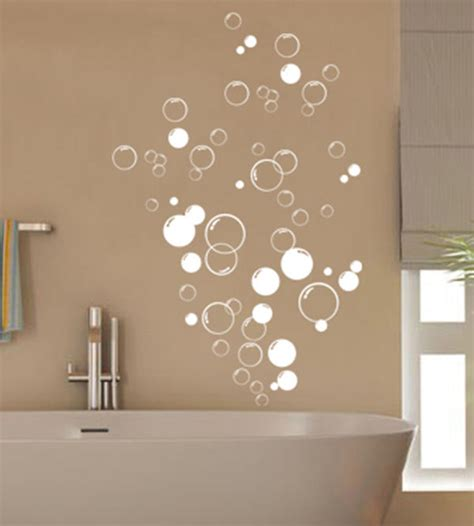 bathroom wall art stickers 90x bubbles bathroom vinyl wall stickers shower door