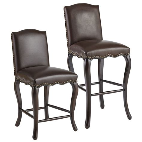 Pier One Leather Bar Stools by Claudine Bar Counter Stools Brown Pier 1 Imports