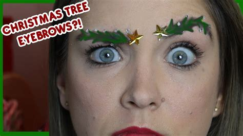 images of christmas eyebrows christmas tree eyebrows youtube