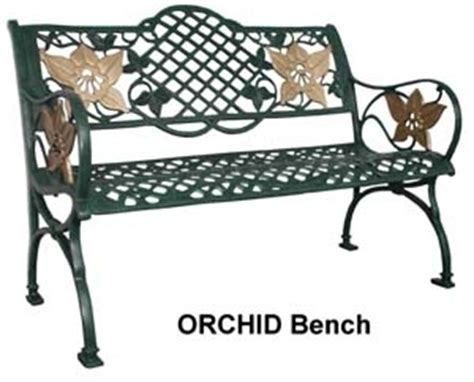 outdoor bench singapore cast aluminium orchid bench universal furniture singapore