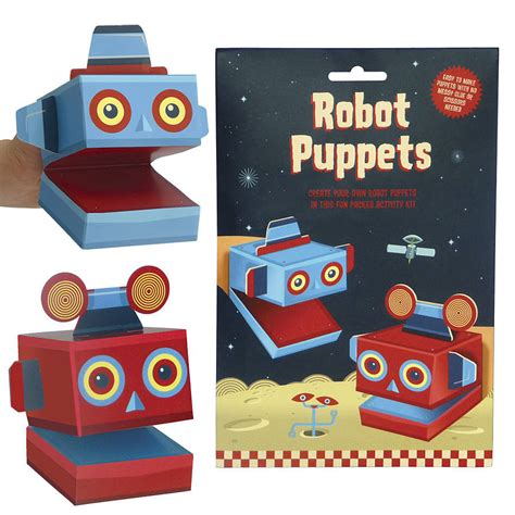 create your own robot create your own robot puppets activity kit by clockwork soldier notonthehighstreet