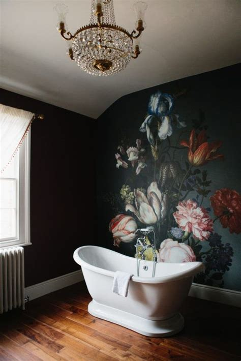 bathroom wall murals 20 trendy moody floral wallpaper ideas shelterness