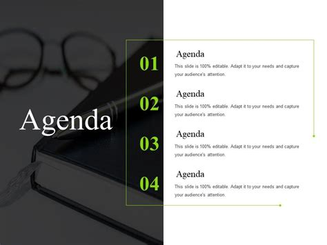 agenda sample   template  powerpoint shapes