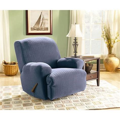 slipcover shop sure fit sure fit stretch pinstripe recliner slipcover