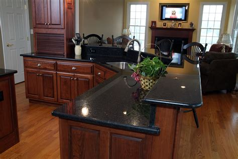 black granite kitchen countertops angola black granite installed design photos and reviews