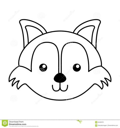 coloring page of a fox face simple fox face coloring coloring pages