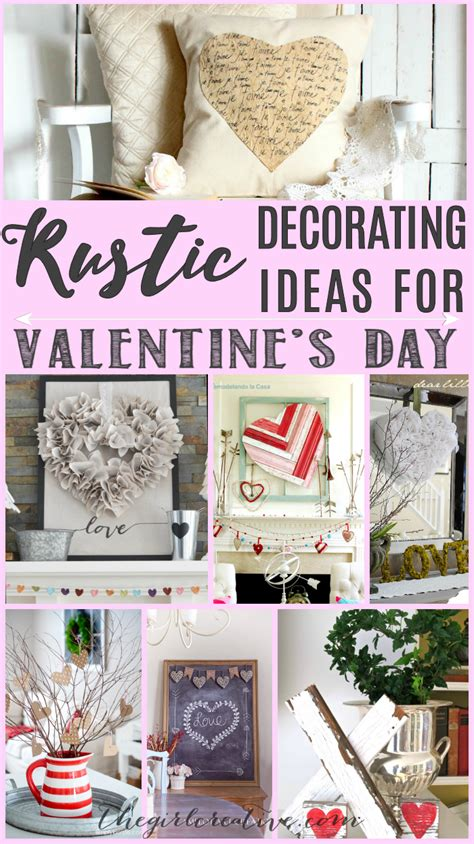 valentine home decorating ideas rustic decorating ideas for valentine s day the girl