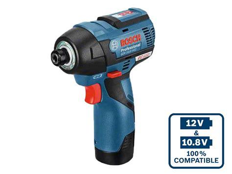 Bosch Driver bosch gdr108vec 10 8v 2 x 2 5ah li ion brushless impact driver l boxx