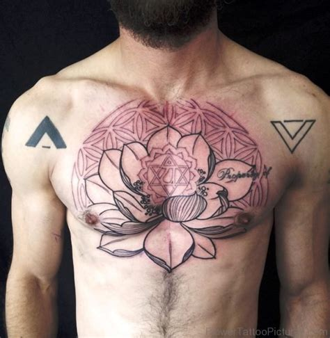 46 best lotus flower tattoos on chest