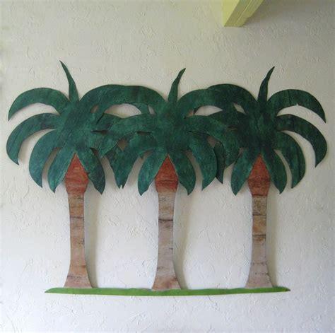 Handmade Trees - crafted handmade upcycled metal large palm tree
