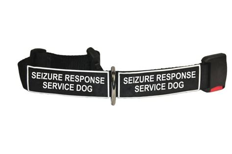 epilepsy service dogs collar with velcro patches seizure response service