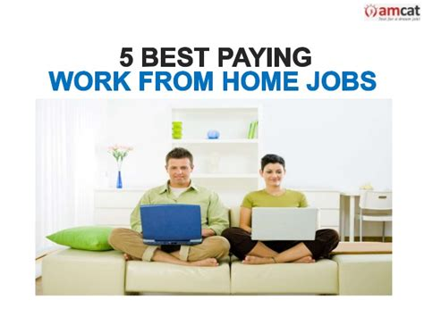 5 best paying work from home
