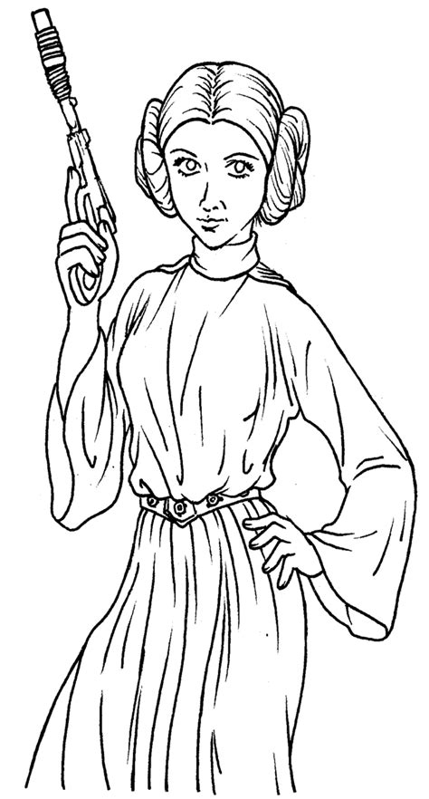 Star Wars Legos Coloring Pages Princess Leah Az Coloring Princess Leia Drawings Free Coloring Sheets