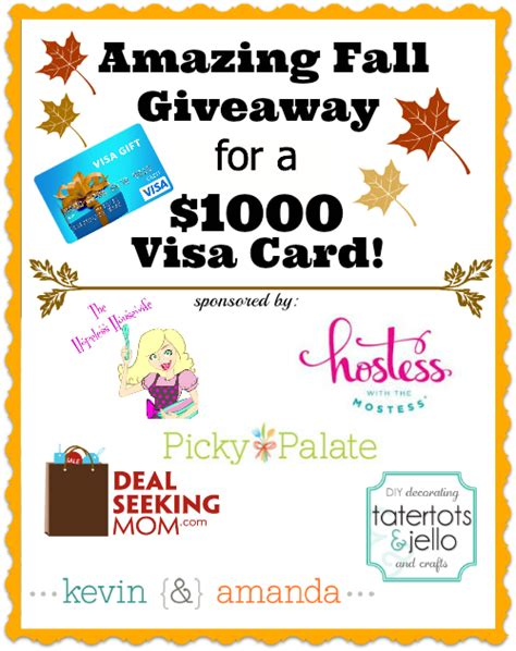 Kroger 1000 Gift Card Giveaway - amazing 1 000 visa gift card fall giveaway