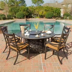avondale 6 person cast aluminum patio dining set with