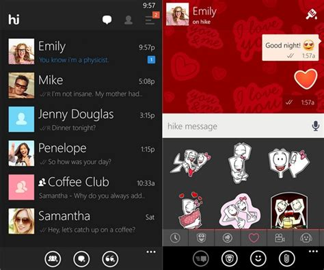 themes facebook chat messenger hike messenger updated with dark theme increased group