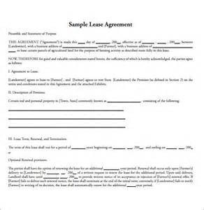 Simple Land Lease Agreement Template sle land lease agreement 11 free documents in pdf word