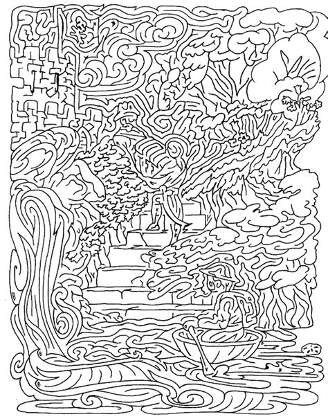 printable hidden picture mazes picturesofmazes maze 2 solved amazing or not