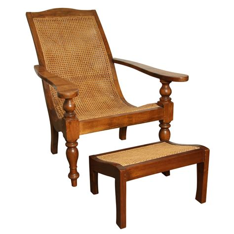 Plantation Chairs by Anglo Indian Plantation Chair And Ottoman At 1stdibs