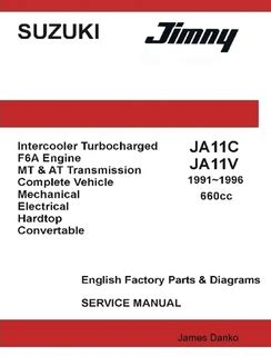 service manual 1996 suzuki esteem engine repair manual service manual small engine repair suzuki jimny ja11c ja11v 660cc english factory parts