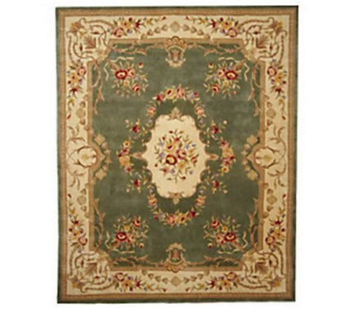 royal palace rug royal palace floral pendant medallion 8x10 handmade wool rug qvc