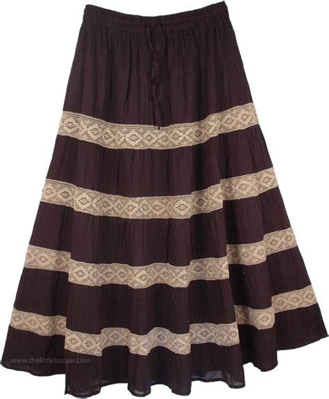 black pattern maxi skirt laced black pattern long skirt clothing sale on bags