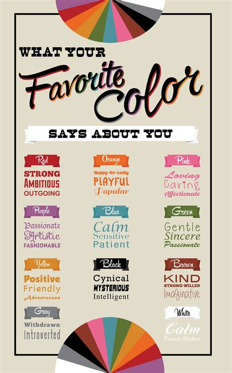 what is favorite color what your favorite color says about you goodness on the go