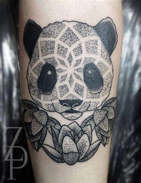 panda mandala tattoo cute dotwork panda by zach peacocks tattoos pinterest