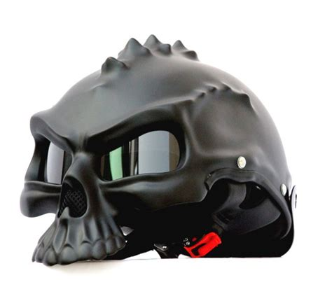 Motorradhelm Harley by Masei Matt Black Skull 489 Motorcycle Chopper Helmet For