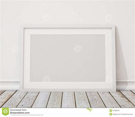 Interior Floor Plans by Raillez Vers Le Haut Du Cadre De Tableau Horizontal Blanc Vide Sur Le Mur Et Le Plancher De