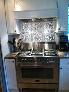 tin kitchen backsplash stainless steel stove fabulous tin backsplash