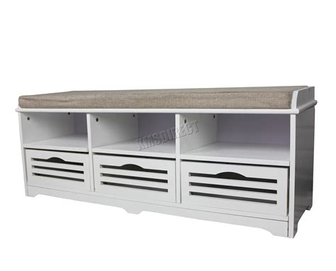 white storage bench with seat foxhunter shoe storage bench with drawers padded seat