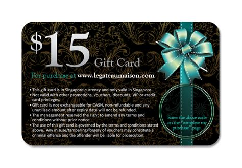 15 Dollar Gift Card - 15 dollars le gateau maison french cakes gift card