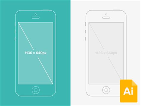 Free Illustrator Iphone Wireframe Mockup Vector Free Psd Vector Icons App Icon Template Illustrator