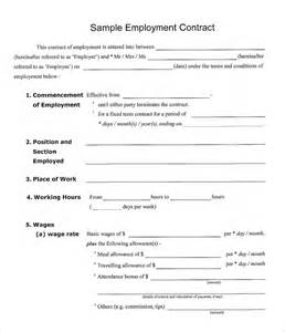 Employee Contract Template Uk by Employment Contract Template Cyberuse