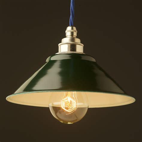 Green Light Pendant Green Steel Light Shade 190mm Pendant