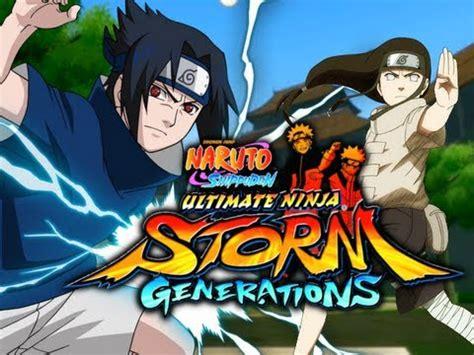 naruto suns generations sasuke  neji chunin exams   scenario  commentary youtube