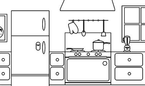 free coloring pages kitchen coloring page parts of a house kitchen download print
