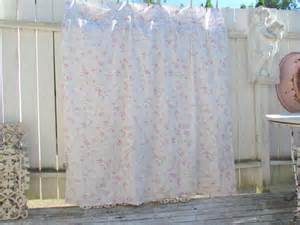 Shabby Chic Shower Curtains Shabby Chic And Ruffles Shower Curtain By Vannasarmoire