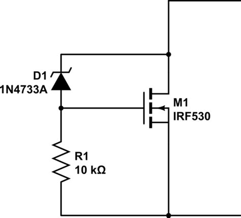 mosfet without diode transistors make a zener diode out of a mosfet electrical engineering stack exchange