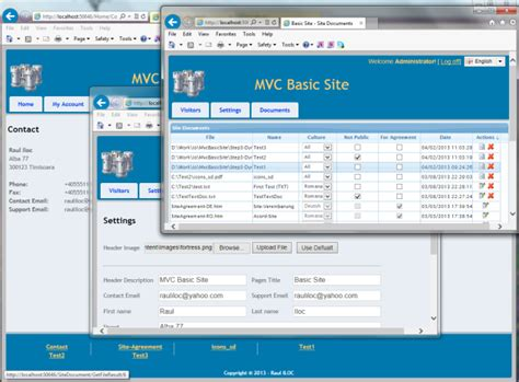 mvc layout html action mvc basic site step 3 dynamic layouts and site admin