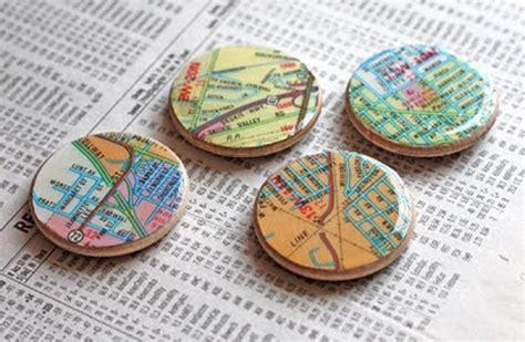 diy magnets crafts 32 inventive ways to repurpose maps diy craft tutorials